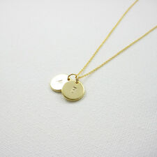 Personalized Disc Necklace,Gold Initial Necklace, From $9.99, 1 2 3 discs