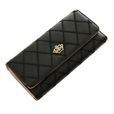Fashion High Capacity Women Wallets With Metal Crown Design Lady Long Clutch