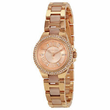NWT Michael Kors Camille Crystal Glitz Rose Gold Bracelet Watch MK4292