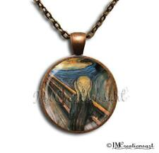 Handmade Glass Dome Bezel Pendant Necklace Munch Art Painting The Scream AP125