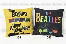 Kinds Cushion Case Car Composite Linen Pillow Cover The Beatles Painting 42x42cm