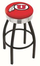 University of Utah Utes Chrome Ribbed Bar Stool Barstool