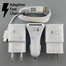 Original For Samsung Galaxy S8 S9  Plus Note7 8 Fast LED Car Wall Charger Cable