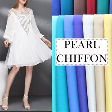"""Chiffon Fabric Solid 100% Polyester 59"""" Wide Sheer Voile By The Yard"""