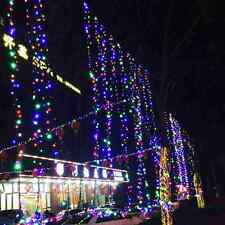 5-100M LED Chasing Cluster Lights Chain String Curtain Holiday Xmas Wedding Deco
