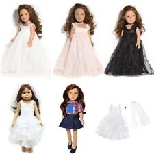 """Beauty White Wedding Clothes 18"""" American Girl Party Outfit Doll Lace Dress"""