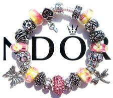 Authentic PANDORA 925 Sterling Silver Bracelet PINK LEMONADE with Charms AA27