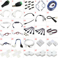 3528 5050 5630 RGB LED Strip Light Connector Cable PCB Clip Solderless Adapter