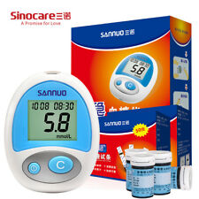 Sinocare Anwen Blood Glucose Meter with Test Strips Bottled and Lancets Blood