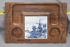 Vintage Wood & Tile Serving Tray egm