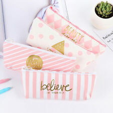 Cute Pencil Pen Case Cosmetic Makeup Stationery Bag Storage Pouch for School