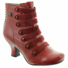 HUSH PUPPIES Tiffin Verona Womens Side Zip Up Victorian Ankle Boots UK 6 39 Red