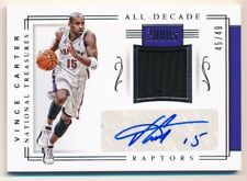 VINCE CARTER 2017/18 NATIONAL TREASURES ALL DECADE AUTO RELIC JERSEY SP /49 $120