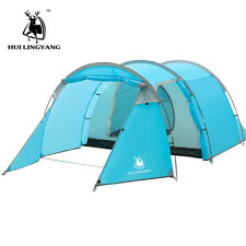 Ultralight Camping Tent Waterproof 3-4 Person Double Layer Outdoot Family Tents