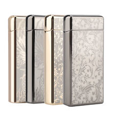 Electric Dual Arc Flameless Lighter USB Rechargeable Windproof Dragon Carved