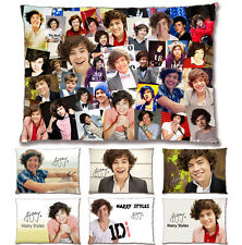 [1D - One Direction] Harry Styles Photo Collage PrePrinted Signature Pillow Case