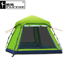 FLYTOP Camping Tent 3-4 Person Family Tourism Beach Tents Waterproof Tent