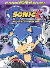 Sonic X Sonic's Scream Test DVD.  NEW.  Free Shipping.