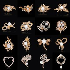 Bridal Women Pearl Flower Butterfly Brooch Pin Breastpin Wedding Bridal Jewelry