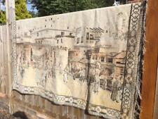 LARGE VINTAGE TAPESTRY WALL KILIM RUG MAT ARABIC EGYPTIAN MARKET TOWN SQUARE