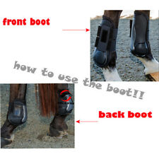 Perfeclan 2 Pairs Horse Leg Boots Front Hind Leg Tendon Protect Equestrian