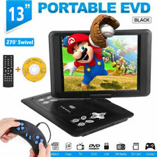 """13"""" Portable TV DVD CD Player 270 ° Rotation FM Radio With Remote Control"""