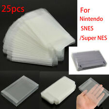 25PC Game Plastic Cartridge Protector Cover Case For Nintendo SNES/Super NES New