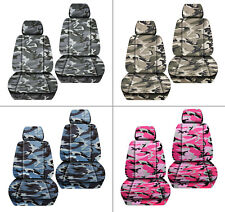 JK wrangler  front car seat covers urban camouflage tan/gray/blue/pink...