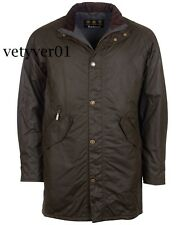 NWT BARBOUR Military Field ' Hall ' Sylkoil Waxed Cotton Quilted Jacket Olive