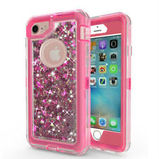 iPhone Xs Max 678 678P XR XS Rugged Heavy Duty Case Bling Sparkle Flowing Liquid