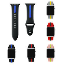 Silicone Wrist Strap Bracelet Watch Band Replacement 38/42mm For Apple iWatch