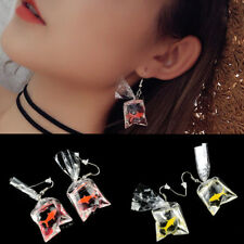 Goldfish Water Bag Shape Dangle Hook Earrings Charm Women Jewelry Gift Cute CA