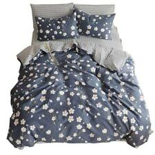 Duvet Cover Flower Printed 3 Piece 100% Cotton Bedding Set With Zipper...