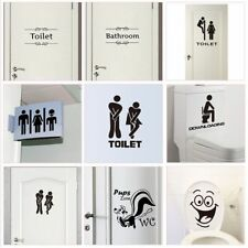 Toilet Entrance Sign Door Stickers Home Decoration Creative Pattern Walls Decals