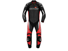 """SPIDI """"Supersport Wind Pro"""" Motorcycle Racing Leather Suit Black/Red/White"""