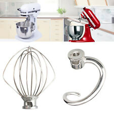 For KitchenAid Spiral Dough Hook Stand Mixer Wire Whip Beater Attachment KSM15