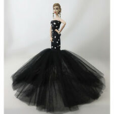 "Doll Dresses Clothes Wedding Dress For 11.5"" Doll Long Fish Tail Evening Gown"
