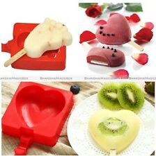 Ice Cream Silicone Mold Popsicle Maker Lolly Mould Kitchen DIY Molds +20 Sticks