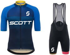 Blue Color Summer Mens Cycling Jersey Set Short Sleeve Mens Cycling Jersey Set