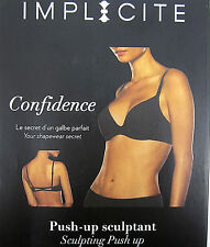 Implicite Confidence Black Scultping Push Up Bra Style 20A390 Non Padded