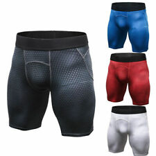 Mens Workout Compression Shorts Underwear Sports Breathable Moisture Wicking Gym