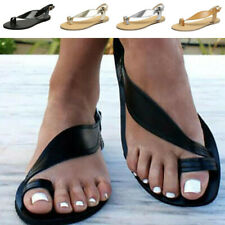 Summer Womens Flip Flops Beach Sandals Casual Toe Ring Flat Slingback Shoes Size