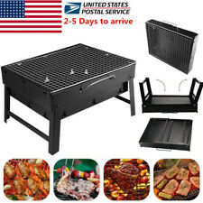 Outoor Camping Stainless Steel Folding Portable Charcoal Barbecue BBQ Grill USA