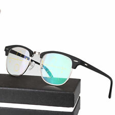 Multifocal Progressive Reading Glasses Readers Vintage Half Rimless Mens IFA526