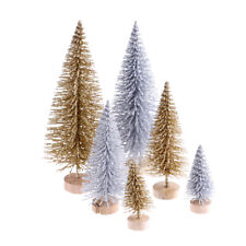 3pcs Stand Mini Christmas Tree Small Pine Trees Xmas Gifts Home Desktop Decor BS