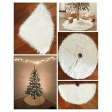 Christmas Tree Fur Carpet White Plush Decorations Home Natal Skirts  Skirts Year