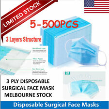 5-500PCS Disposable Face Mask Filters Breathable 3ply Beauty Medical Mask LOT US