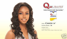 """QUE CANON 14"""" BY MILKYWAY HUMAN HAIR MASTERMIX WAVY HAIR WEAVE EXTENSION"""