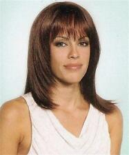 Auburn/Brown/Black Mid-length Straight w/Bangs Wig Wigs