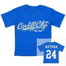 CARDIFF CITY Football Personalised Boys/Girls T-Shirt